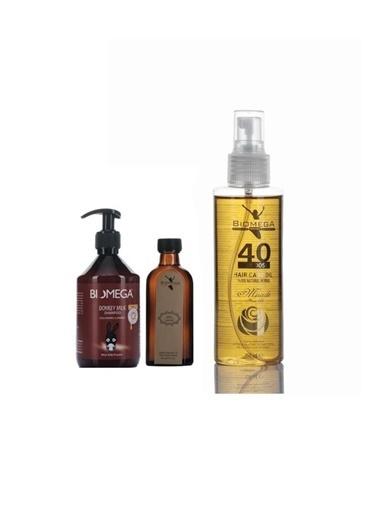 Biomega Biomega Eşek Sütü Şampuan 500 Ml + Keratin Yağ 95 Ml+Biomega 40 Bitkili Doğal Saç Bakım Yağı 150 Ml Renksiz